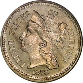 1878 3CN PF obverse
