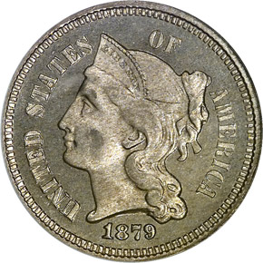1879 3CN PF obverse