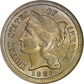 1883 3CN MS obverse