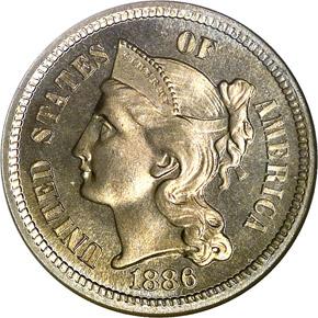1886 3CN PF obverse