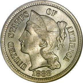 1888 3CN MS obverse