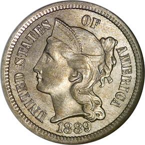 1889 3CN MS obverse