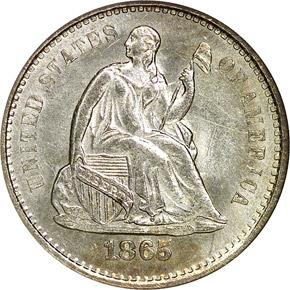 1865 S H10C MS obverse