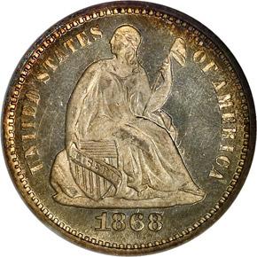 1868 H10C MS obverse