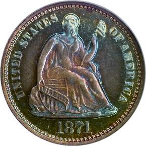 1871 H10C PF obverse