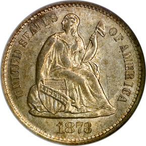 1873 S H10C MS obverse