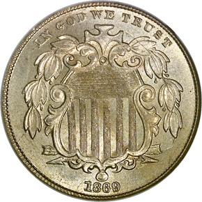 1869 5C MS obverse