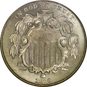 1870 5C MS obverse