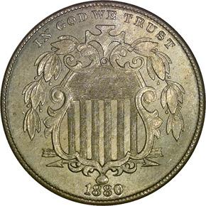 1880 5C MS obverse