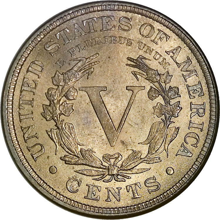 1888 5 cent coin