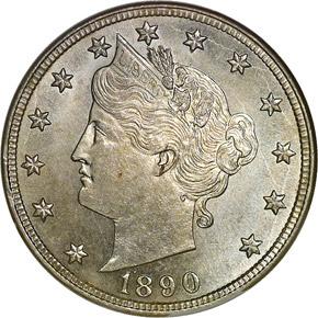 1890 5C MS obverse