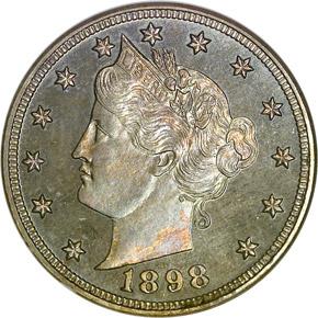 1898 5C PF obverse
