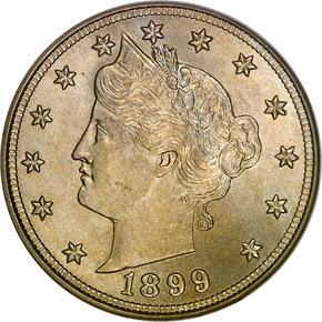 1899 5C MS obverse