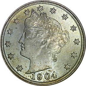 1904 5C MS obverse