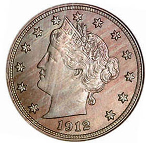 1912 D 5C MS obverse