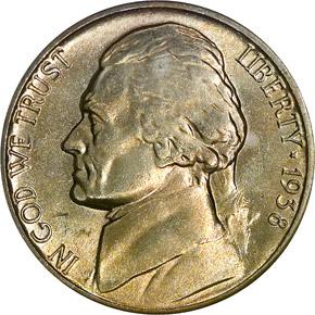 1938 5C MS obverse