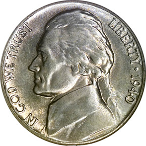 1940 5C MS obverse