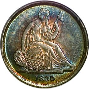 1838 O 10C MS obverse