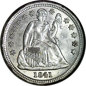 1841 10C MS obverse