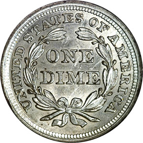 1841 10C MS reverse