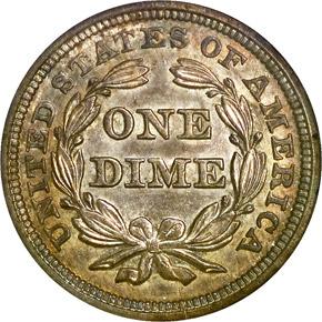 1843 10C MS reverse