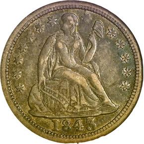 1843 O 10C MS obverse