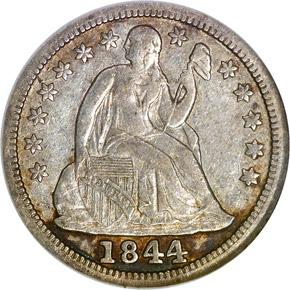 1844 10C MS obverse