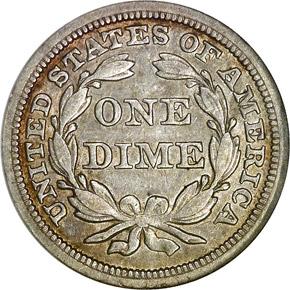 1844 10C MS reverse