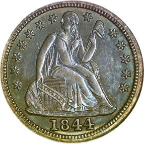 1844 10C PF obverse