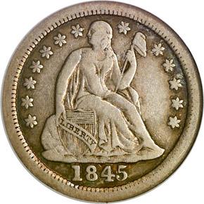 1845 O 10C MS obverse