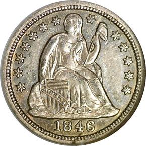 1846 10C MS obverse