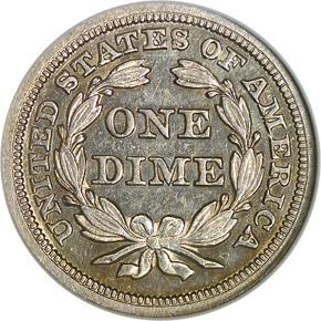 1846 10C MS reverse