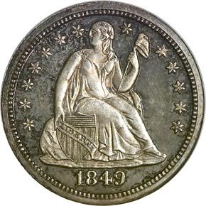 1849 10C PF obverse