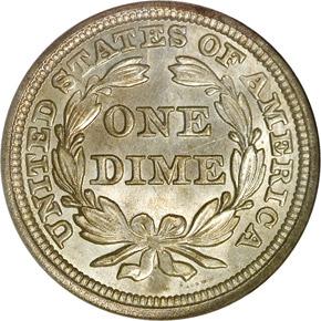 1851 10C MS reverse