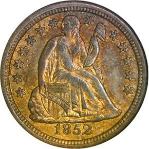 1852 O 10C MS obverse