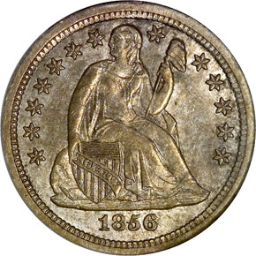 1856 S 10C MS obverse