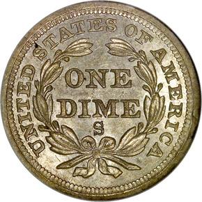 1856 S 10C MS reverse