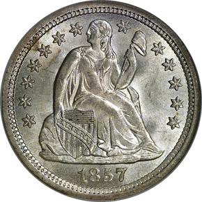 1857 O 10C MS obverse