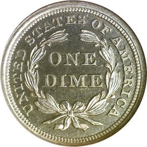 1858 10C PF reverse