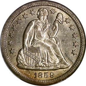 1859 O 10C MS obverse