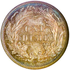 1860 O 10C MS reverse