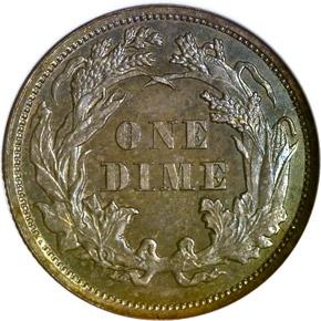 1862 10C PF reverse