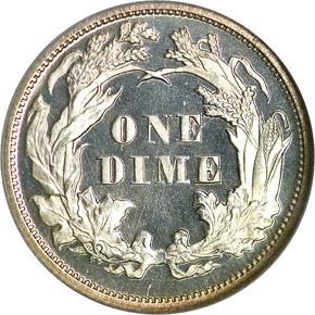1871 10C PF reverse