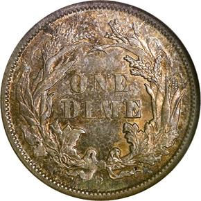 1871 S 10C MS reverse