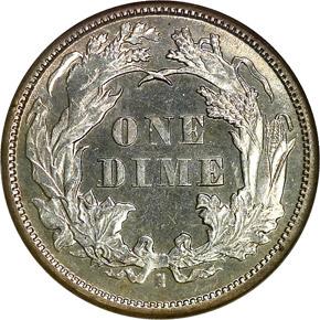 1872 S 10C MS reverse