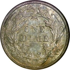 1873 S ARROWS 10C MS reverse