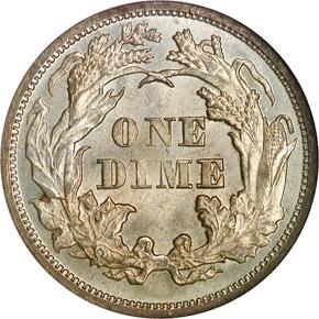 1876 10C MS reverse