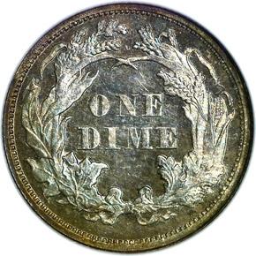 1876 10C PF reverse