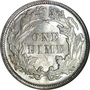 1878 10C MS reverse