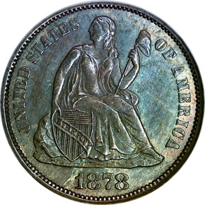 1878 CC 10C MS obverse